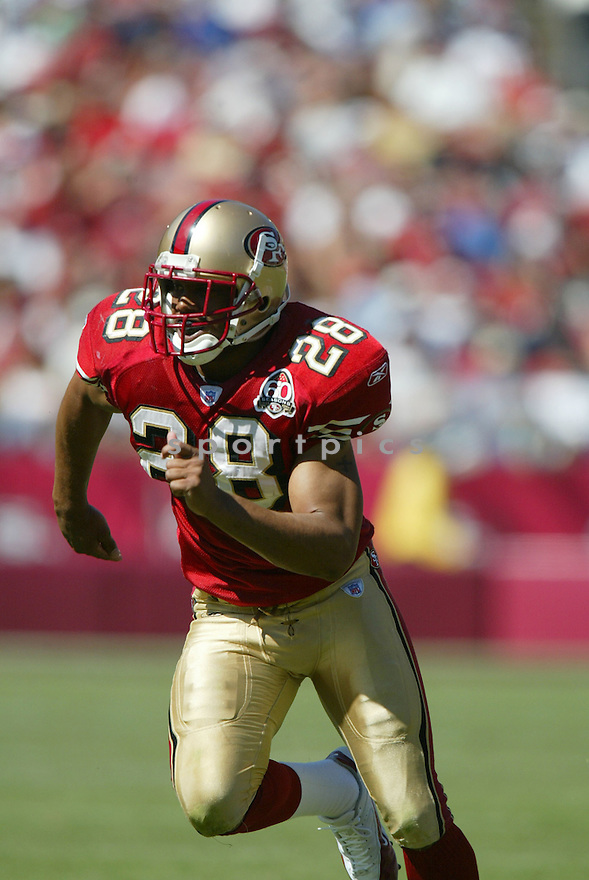 KEITH LEWIS, of the San Francisco 49er's , during their game against the St. Louis Rams on September 17, 2006 in San Francisco, CA...49er's win 20-13..Rob Holt / SportPics.