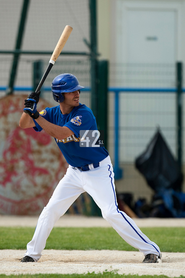 22 May 2009: Julien Brelle Andrade of Senart is seen at bat during the 2009 challenge de France, a tournament with the best French baseball teams - all eight elite league clubs - to determine a spot in the European Cup next year, at Montpellier, France. Senart wins 7-1 over Montpellier.