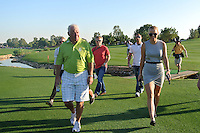 Rory McIlroy (NIR) father Gerry McIlroy and Girlfriend Caroline Wozniacki  on the third day of the DUBAI WORLD CHAMPIONSHIP presented by DP World, Jumeirah Golf Estates, Dubai, United Arab Emirates.Picture Fran Caffrey www.golffile.ie