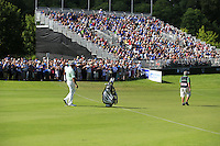 Darren Clarke (NIR) walks to the 18th green during Friday's Round 2 of the 2014 Irish Open held at Fota Island Resort, Cork, Ireland. 20th June 2014.<br /> Picture: Eoin Clarke www.golffile.ie