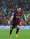 22.11.2014 Barcelona. La Liga day 12. Picture show Leo Messi. in action during game between FC Barcelona v Sevilla at Camp Nou. Leo Messi new maximun scorer from la Liga and beat Zarra goals record