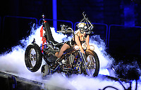 """LONDON, UK - SEPTEMBER 08: Lady Gaga performs at the """"Born This Way Ball Tour"""" at Twickenham Stadium on September 8, 2012 in London, England. (Photo by ST/AF/PictureGroup)"""