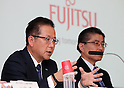 October 27, 2016, Tokyo, Japan - Japanese computer giant Fujitsu president Tatsuya Tanaka announces the company's business strategy at the Fujitsu headquarters in Tokyo on Thursday, October 27, 2016. Fujitsu said Fujitsu and Chinese personal computer giant Lenovo explored personal computer business cooperation.    (Photo by Yoshio Tsunoda/AFLO) LWX -ytd-