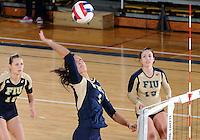 Florida International University women's volleyball player Andrea Lakovic (1) plays against Florida Gulf Coast University.  FIU won the match 3-0 on November 8, 2011 at Miami, Florida. .