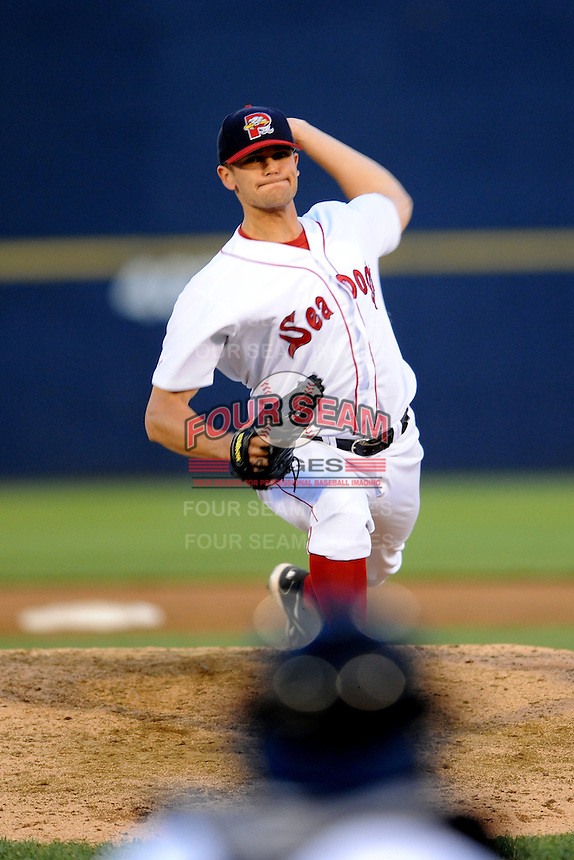 July 15, 2009:  Pitcher Dustin Richardson of the Portland Seadogs during the 2009 Eastern League All-Star game at Mercer County Waterfront Park in Trenton, NJ.  Photo By David Schofield/Four Seam Images