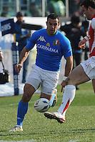 Gonzalo Canale (Italia) in meta<br /> Italia vs Galles<br /> RBS 6 Nations Rugby Championship 2011<br /> Stadio Flaminio;<br /> Roma, 26/02/2011<br /> Photo Antonietta Baldassarre Insidefoto