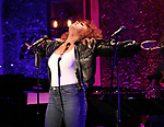 "Liisi LaFontaine on stage during a Song preview performance of the BeBe Winans Broadway Bound Musical ""Born For This"" at Feinstein's 54 Below on November 5, 2018 in New York City."