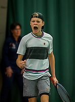 Wateringen, The Netherlands, December 8,  2019, De Rhijenhof , NOJK juniors 14 and18 years, Finals boys 14 years: Abel Forger (NED)<br /> Photo: www.tennisimages.com/Henk Koster