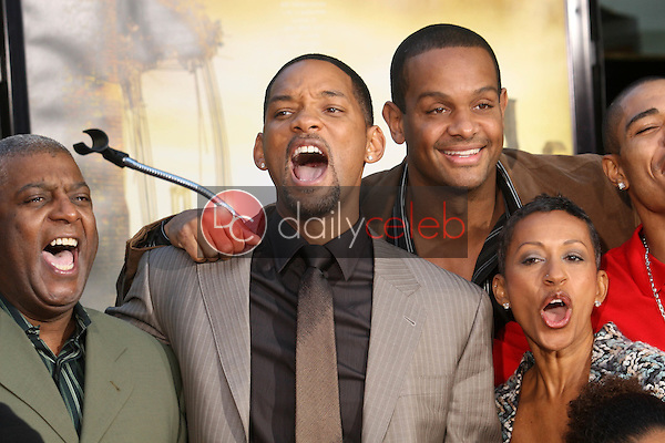 Will Smith and family<br />at the Chinese Theatre hand and footprint Ceremony Honoring Will Smith. Grauman's Chinese Theatre, Hollywood, CA. 12-10-07<br />Dave Edwards/DailyCeleb.com 818-249-4998