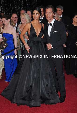"""MATHEW McCONAUGHEY AND CAMILA ALVES - Oscars 2011.83rd Academy Awards arrivals, Kodak Theatre, Hollywood, Los Angeles_27/02/2011.Mandatory Photo Credit: ©Phillips-Newspix International..**ALL FEES PAYABLE TO: """"NEWSPIX INTERNATIONAL""""**..PHOTO CREDIT MANDATORY!!: NEWSPIX INTERNATIONAL(Failure to credit will incur a surcharge of 100% of reproduction fees)..IMMEDIATE CONFIRMATION OF USAGE REQUIRED:.Newspix International, 31 Chinnery Hill, Bishop's Stortford, ENGLAND CM23 3PS.Tel:+441279 324672  ; Fax: +441279656877.Mobile:  0777568 1153.e-mail: info@newspixinternational.co.uk"""