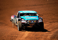 Apr 15, 2011; Surprise, AZ USA; LOORRS driver Curt Leduc (43) during round 3 and 4 at Speedworld Off Road Park. Mandatory Credit: Mark J. Rebilas-.