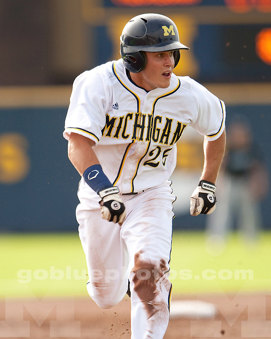 The University of Michigan baseball team beat the Ontario Blue Jays, 6-4, in 14 exhibition innings at Fisher Stadium in Ann Arbor, Mich., on October 10, 2011.