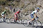 Alberto Contador (w), Joaquin Purito Rodriguez (r) and Alejandro Valverde during the stage of La Vuelta 2012 between Gijon and Valgrande-Pajares (Cuitu Negru).September 3,2012. (ALTERPHOTOS/Paola Otero)