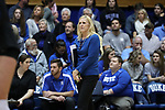 DURHAM, NC - NOVEMBER 24: Duke head coach Jolene Nagel. The Duke University Blue Devils hosted the University of North Carolina Tar Heels on November 24, 2017 at Cameron Indoor Stadium in Durham, NC in a Division I women's college volleyball match. Duke won 3-0 (25-21, 25-22, 25-20).