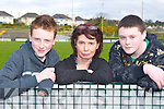 Pj McGuire Tralee, Ann Nagle Killarney and Shane Kelly Tralee at the No Name club Munster Championships in Killarney on Saturday ..