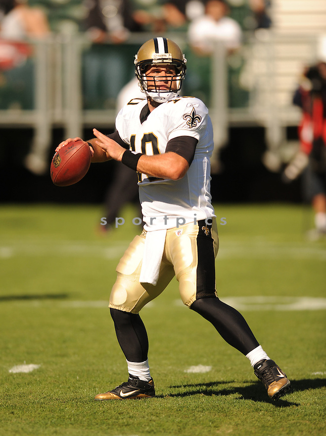 CHASE DANIEL, of the New Orleans Saints, in action during the Saints game against the Oakland Raiders on August 28, 2011 at O.co Coliseum in Oakland, CA. The Saints beat the Raiders 40-20.