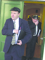 Jackie Healy-Rae and his son Michael leave Tralee Court on Thursday..Pic: MacMonagle, Killarney Jackie Healy-Rae, TD from the book by Don MacMonagle entitled 'Jackie - Keeping Up Appearances' published in 2002.