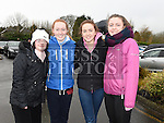 Niamh and Orla McNally and Laoise and Éle Quinn who took part in the Goal Mile at St Fechins GAA club on St Stephen's morning. Photo:Colin Bell/pressphotos.ie