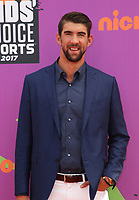LOS ANGELES, CA July 13- Michael Phelps, At Nickelodeon Kids' Choice Sports Awards 2017 at The Pauley Pavilion, California on July 13, 2017. Credit: Faye Sadou/MediaPunch