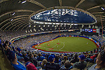 1 April 2016: A crowd of 52,682 baseball fans watch a pre-season exhibition series between the Toronto Blue Jays and the Boston Red Sox at Olympic Stadium in Montreal, Quebec, Canada. The Red Sox defeated the Blue Jays 4-2 in the first of two MLB weekend games at the former home on the Montreal Expos. Mandatory Credit: Ed Wolfstein Photo *** RAW (NEF) Image File Available ***
