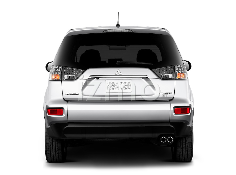 Straight rear view of a 2011 Mitsubishi Outlander GT