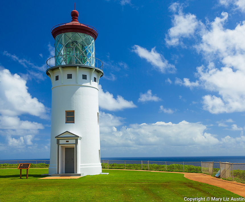 Kauai, HI:  Kilauea Point Lighthouse at Kilauea National Wildlife Refuge on Kauai's north shore