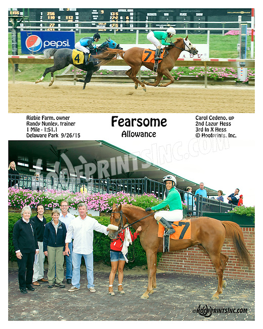 Fearsome winning at Delaware Park on 9/26/15