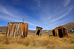 A general view of Bodie, a ghost town from the gold rush era on October 27, 2012 in Mono County, California. This ghost town is located in Bodie just east of the Sierra Nevada mountain range and is recognized as a National Historic Landmark