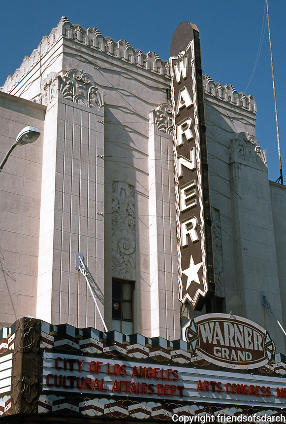 Movie Theatre: San Pedro. Warner Grand Theater, 1931. Photo '89.