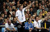 Handball Champions League  Frauen Damen - HCL HC Leipzig : HYPO Niederösterreich - Arena Leipzig - im Bild: HCl Trainer / Coach Heine Jensen aktiv an der Seitenlinie. Foto: Norman Rembarz...