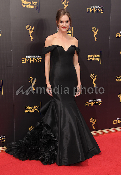 11 September 2016 - Los Angeles, California. Erin Hayes. 2016 Creative Arts Emmy Awards - Day 2 held at Microsoft Theater. Photo Credit: Birdie Thompson/AdMedia
