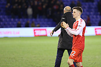 Fleetwood Town's Ashley Hunter applauds the fans after the final whistle in the Sky Bet League 1 match between Oldham Athletic and Fleetwood Town at Boundary Park, Oldham, England on 26 December 2017. Photo by Juel Miah / PRiME Media Images.