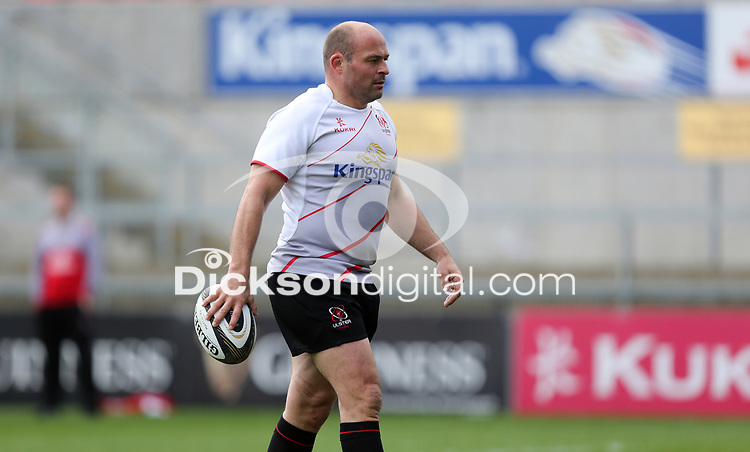 Friday 20 April 2018 | Ulster Rugby Captain's Run<br /> <br /> Rory Best during Captain's Run at Kingspan Stadium, Ravenhill Park Belfast, Northern Ireland. Photo by John Dickson / DICKSONDIGITAL