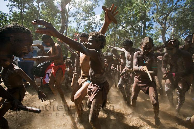 Indigenous dance at the Laura Aboriginal Dance Festival.  Laura, Queensland, Australia