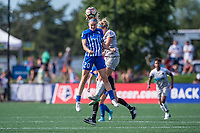 Boston, MA - Saturday June 24, 2017: Christen Westphal and Makenzy Doniak during a regular season National Women's Soccer League (NWSL) match between the Boston Breakers and the North Carolina Courage at Jordan Field.