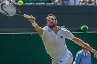 London, England, 7 th July, 2017, Tennis,  Wimbledon, Marin Cilic (CRO)<br /> Photo: Henk Koster/tennisimages.com