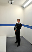 Strathclyde Police Ch Constable Stephen House pictured in the new custody unit at Kilmarnock which forms a link between the Police Staion and Sheriff Court. The unit has 10 new modular cells and cost £845.000. Ch Cons House has been linked this week to the vacant Commissioner position at the  Metropolitan Police - Picture by Donald MacLeod - 16.08.11 - 07702 319 738 - www.donald-macleod.com