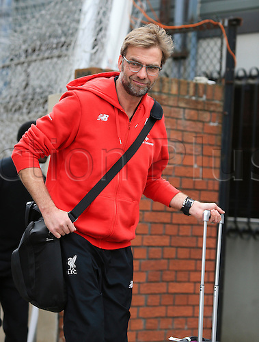 06.03.2016. Selhurst Park, London, England. Barclays Premier League. Crystal Palace versus Liverpool. Jürgen Klopp, the Liverpool manager arrives at the ground before the game.