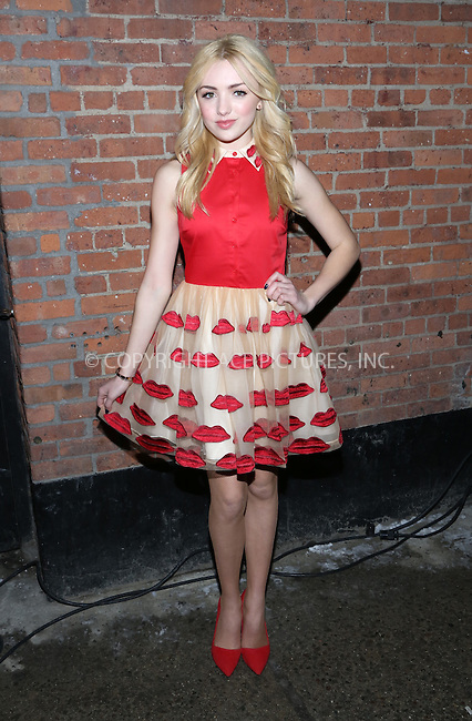 WWW.ACEPIXS.COM<br /> <br /> February 10, 2014...New York City<br /> <br /> Peyton List attending the Alice + Olivia Presentation at the the McKittrick Hotel on February 10, 2014 in New York City.<br /> <br /> By Line: AO Images/ACE Pictures<br /> <br /> <br /> ACE Pictures, Inc.<br /> tel: 646 769 0430<br /> Email: info@acepixs.com<br /> www.acepixs.com