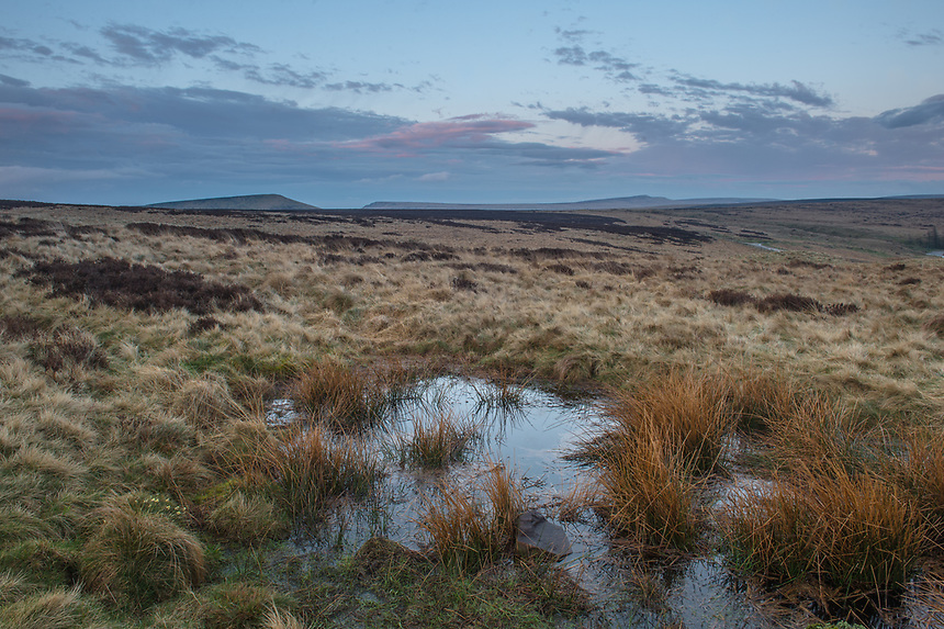 Sunset at Standedge Moor, Saddleworth, Greater Manchester.