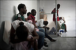 © Remi OCHLIK/IP3 - Port Au Prince on 2010 november 10 - Haitian patients suffering from cholera are treated in Port Au Prince general hospital.Cholera, a diarrheal disease transmitted by contaminated water, has mostly hit Haiti's rural central regions so far. But authorities say it has now gained a foothold in Port-au-Prince and is menacing crowded slum areas of the capital...Among the most vulnerable areas are tent and tarpaulin camps in Port-au-Prince still housing more than 1.3 million survivors of Haiti's devastating January 12 earthquake.