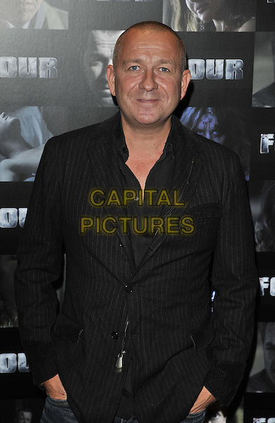 Sean Pertwee.UK premiere of 'Four' at The Empire Cinema - Arrivals, London, England..October 10th, 2011.half length black pinstripe jacket.CAP/CAN.©Can Nguyen/Capital Pictures.