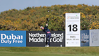 Sunday 31st May 2015; Graeme McDowell, Northern Ireland, tees off at the 18th<br /> <br /> Dubai Duty Free Irish Open Golf Championship 2015, Round 4 County Down Golf Club, Co. Down. Picture credit: John Dickson / DICKSONDIGITAL