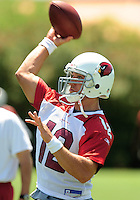 Jun 9, 2008; Tempe, AZ, USA; Arizona Cardinals quarterback (12) Anthony Morelli during mini camp at the Cardinals practice facility. Mandatory Credit: Mark J. Rebilas-