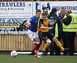 David Templeton skips past a challenge then falls over with an ankle injuty