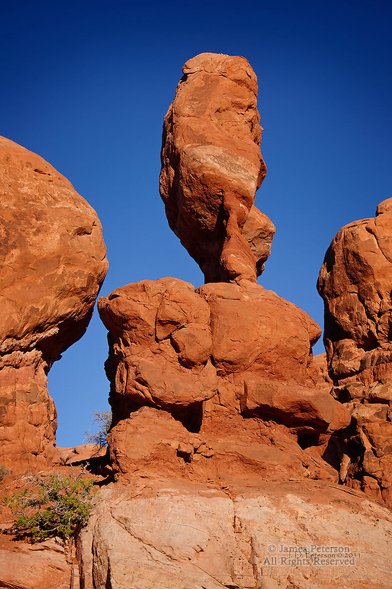 Another Balanced Rock, Arches National Monument, Utah.  Available in sizes up to 30 x 45 inches