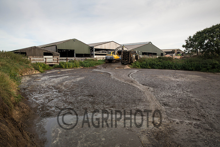 Slurry lagoon on a dairy farm<br /> Picture Tim Scrivener 07850 303986