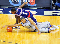 The Hoyas' Otto Porter tries to control the loose ball. Georgetown defeated Memphis 70-59 at the Verizon Center in Washington, D.C. on Thursday, December 22, 2011. Alan P. Santos/DC Sports Box