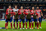 Players of Atletico de Madrid line up and pose for a photo prior to the UEFA Europa League 2017-18 Round of 16 (1st leg) match between Atletico de Madrid and FC Lokomotiv Moscow at Wanda Metropolitano  on March 08 2018 in Madrid, Spain. Photo by Diego Souto / Power Sport Images
