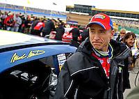Oct. 2, 2009; Kansas City, KS, USA; Nascar Sprint Cup Series driver Mark Martin during qualifying for the Price Chopper 400 at Kansas Speedway. Mandatory Credit: Mark J. Rebilas-